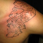 graffiti wild style tattoo by Adal