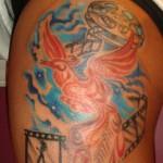 custom color phoenix film tattoo