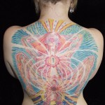 Alex Grey Birth Full Back Tattoo