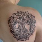 Irish Celtic Tree of Life Back Tattoo