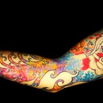 Colorful Fractal Tattoo Sleeve