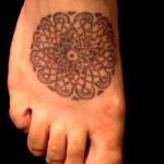 round design celtic foot tattoo maze by Adal