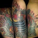 tasmanian devil tattoo cover up