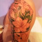 floral sleeve nature modern tattoo