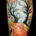 Elephant Tattoo Sleeve in Full Color
