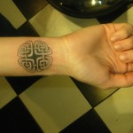 celtic geometric design modern tattoo