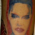 Grace Jones, NYC Singer/Actress Warhol Inspired NYC Tattoo