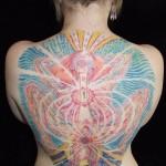 Alex Grey Tattoo - Birth Backpiece