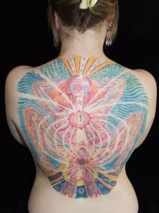 Alex Grey Tattoo - Birth Backpiece