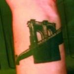 Brooklyn Bridge Wrist Tattoo