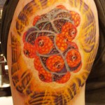 Alex Grey DMT Molecule Arm Tattoo