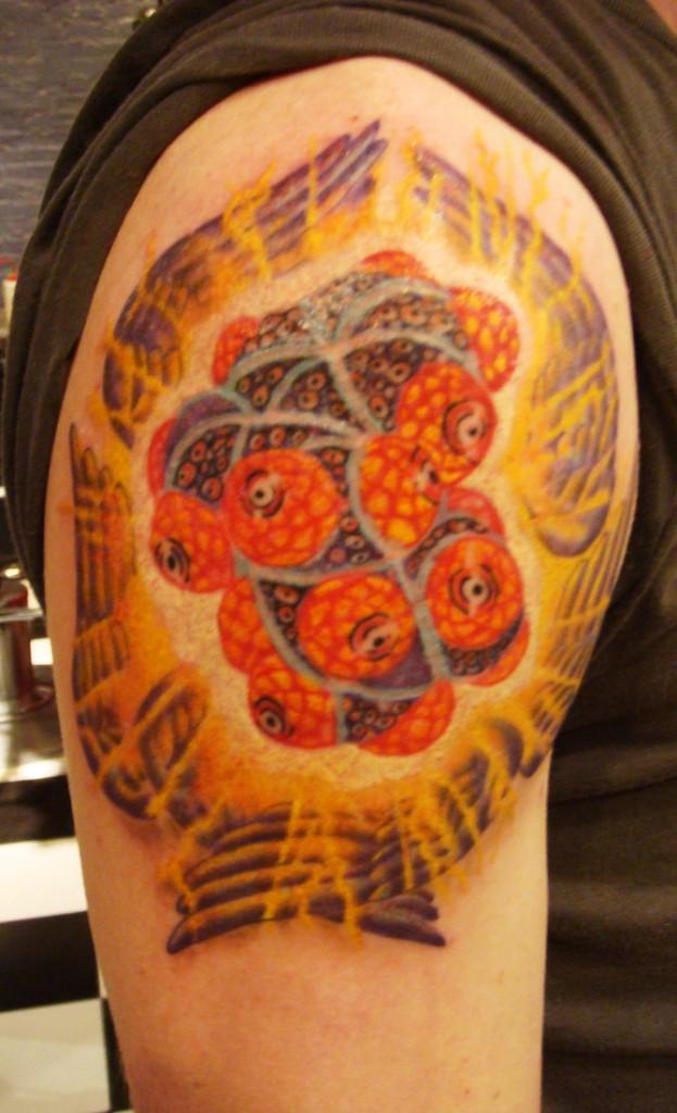Alex Grey DMT Molecule Arm Tattoo