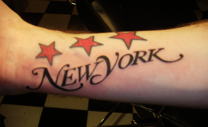 New York Magazine Font NYC Tattoo