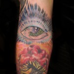 Psychedelic Tattoo Omni Eye with Red Tree