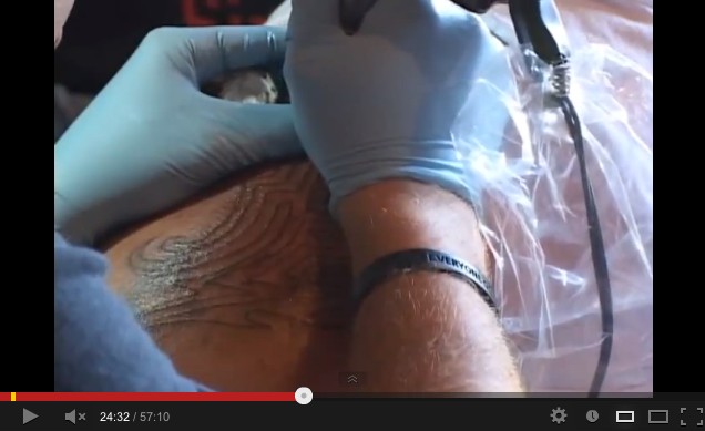 Bad tattooing video