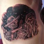 Dia De Los Muertos Side Piece Tattoo - Majestic Tattoo NYC
