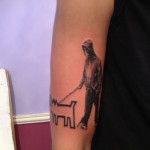 banksy keith haring walking the dog street art modern art arm tattoo