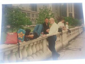Keith Haring at the Pinnacle, Chicago 1989
