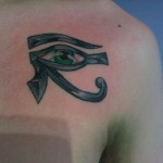 illuminate egyptian mythology eye of ra eye of re egypt chest color tattoo