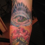 bright colorful all seeing eye psychedelic cosmic modern tattoo majestic nyc