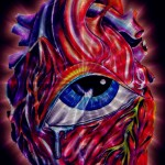 eye heart abstract painting