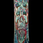skull snowboard painted design