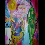 goddess abstract oil painting