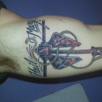 ship anchor hail mary tattoo