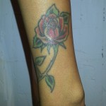 rose tattoo cover up - stage one