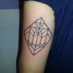 geometric linear arm tattoo