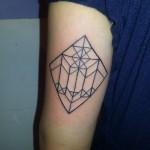 geometric linear arm tattoo
