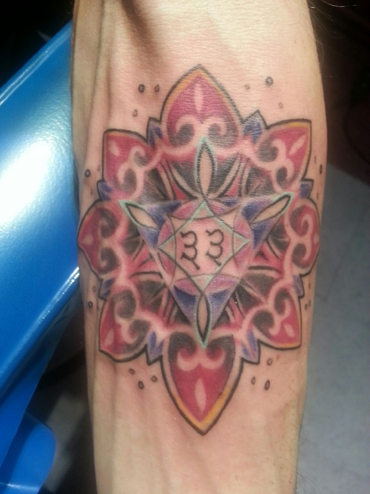 Check out this mandala tattoo recently done at majestic