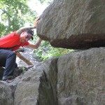 Adal moving a huge rock in Central Park