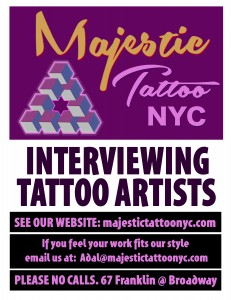 hiring tattoo artist nyc 2013