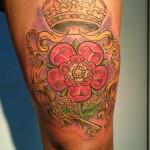 thigh floral crown color