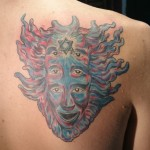 star of david religious tattoo psychedelic majestic tattoo nyc