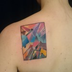 cover up abstract tattoo color