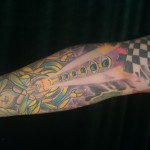 psychedelic colorful sleeve