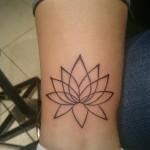 ankle tattoo lotus flower outline