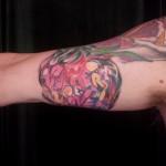 summer love graffiti colorful tattoo