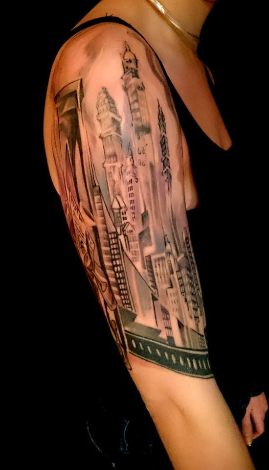 brooklyn bridge nyc skyline tattoo