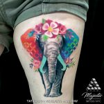 elephant color floral