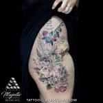 flower thigh piece