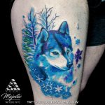 god winter snowflake tattoo