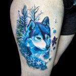 watercolor-husky-wolf-tattoo-talulah-nyc
