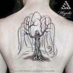 willow tree woman back tattoo