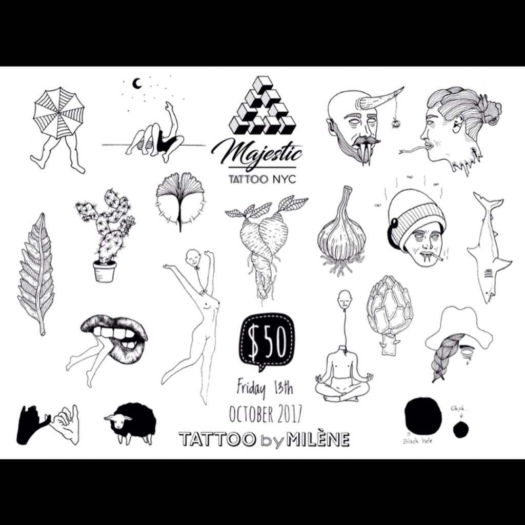 brooklyn tattoo flash friday 13th nyc new york bushwick